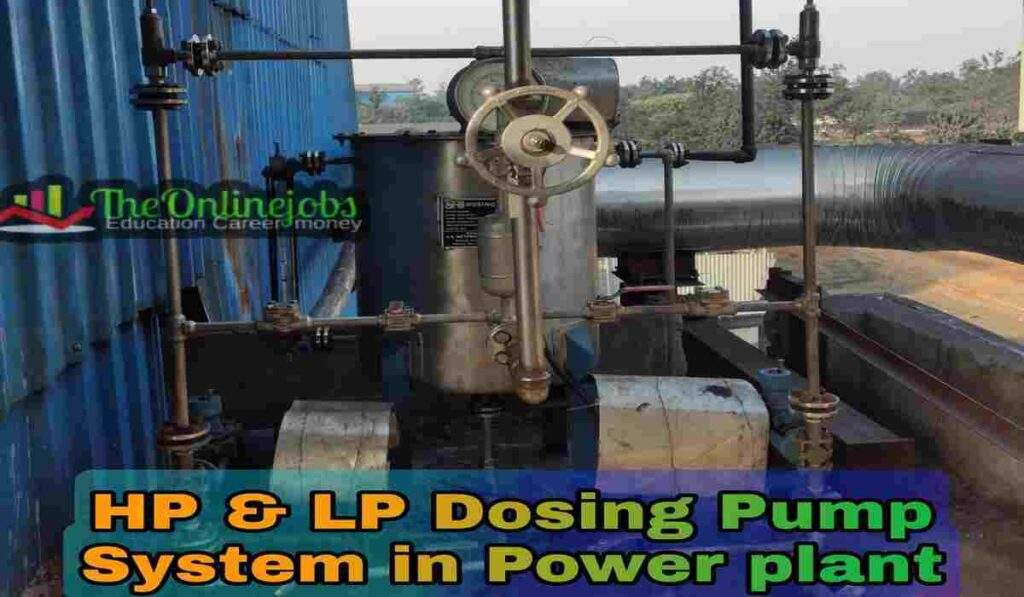 Lp hp dosing pump system in power plant